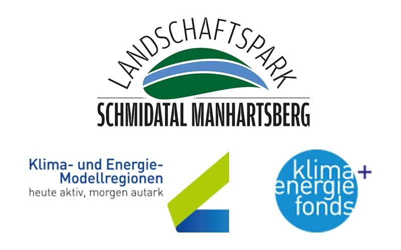 Logo - Landschaftspark Schmidatal und Klima Energie Fonds