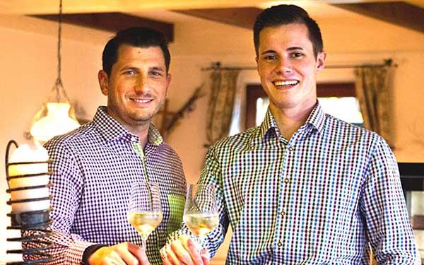 Lukas und Michael vom Amethystheurigen