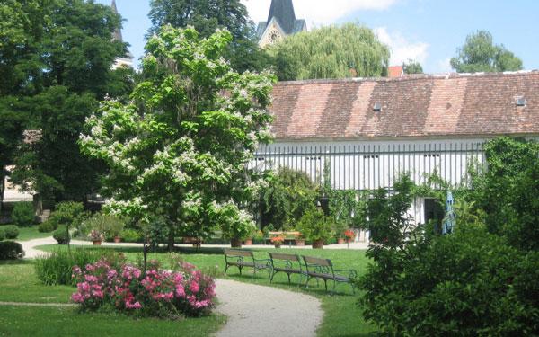 Schlosspark Renaissanceschloss Mühlbach Garten Landschaftspark