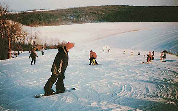 Skifahren im Schmidatal
