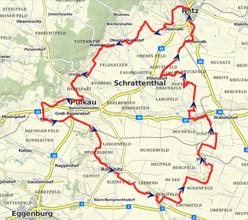 Karte - Radweg Weinviertel DAC