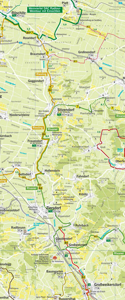 "Karte Radweg Verbindungsweg ""84"""