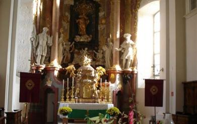 Die Prandtauer Kirche im Ravelsbacher Barockgarten